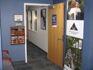 OARS office interior showing open door