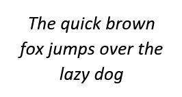 "Text ""The quick brown fox jumps over the lazy dog"""